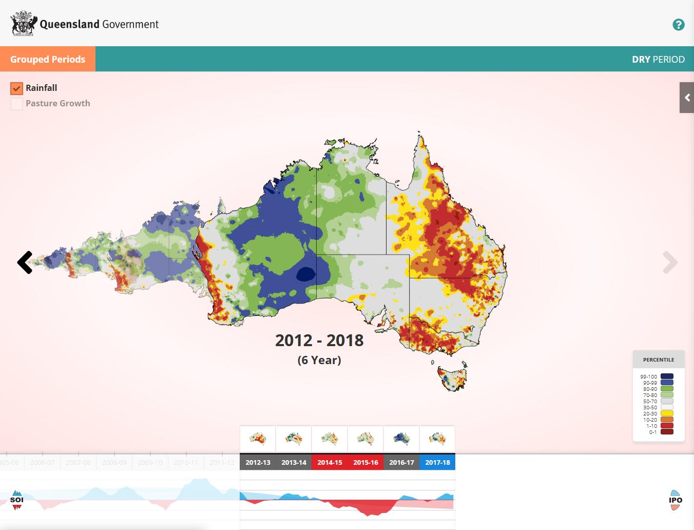 Australia Map Poster.Australia S Variable Rainfall Longpaddock Queensland Government